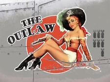 The Outlaw Vintage War Aeroplane Classic Pin-up Large Metal/Steel Wall Sign