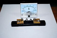DC 10A Ampmeter Analog Current Panel Meter Ammeter 10A & DC Current Shunt A286