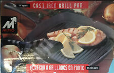 "Metro (#1111) 11"" Cast Iron Grill Pan"