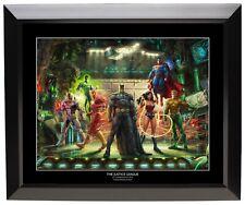 Thomas Kinkade Studios Dc Justice League 19.5 x 23.5 Black Framed Print