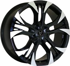 "VW T5 T6 Wolfrace Assassin Gt2 20"" Alloy Wheels Black Polished 5x120"