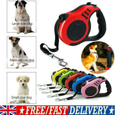 More details for 2 types dog leash retractable nylon lead extending puppy walking running leads