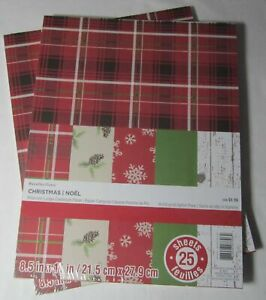 """Recollections Cardstock Paper 8 1/2"""" x 11"""" 25 Sheets CHRISTMAS VALENTINE'S DAY"""