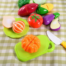 Little Baby Boy Gril Fruit Cutting Pretend Chopping Board Food Educational Toys