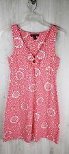 Tommy Bahama Sleeveless Dress Size S Sundress Pink White Supima Cotton Blend