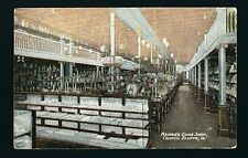 Council Bluffs Iowa IA c1908 Interior of MAURER'S CHINA SHOP, Display Cases FULL