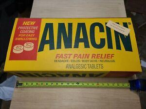 Vintage Anacin Counter Top Sign Advertising Display - Pharmacy Free Shipping 📦