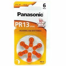 Batteries Panasonic Pr13 1.4v - 6 Pcs Hearing Aid