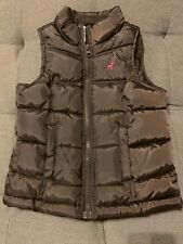 Old Navy Girl's Brown Puffer Vest w Pockets And Fleece Lined Size XS