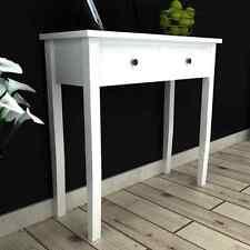 Console da toeletta in legno bianco Tavolo con due cassetti LIVING SALA da Pranzo Camera da Letto