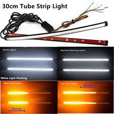30cm Switchback Car SUV DRL LED Tube Strip Brakelight Signal Flowing Flash Light