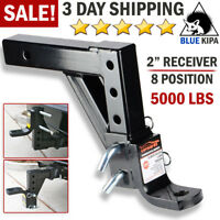 """Drop Adjustable Ball Mount for Car Trailer Hitch Tow 2"""" Receiver Towing System"""