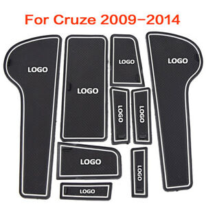 For Chevrolet Cruze 2009-2014 Interior Door Mat Cup Pads Holder Gate Slot Pad