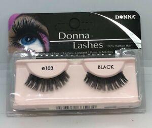 DONNA100% Human Hair False Eyelashes Fashion/Glamour/Natural Lashes/