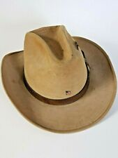 Rare Adam New York Vintage Hat Size 7 1/4  3/8 Brown tan cowboy western brown