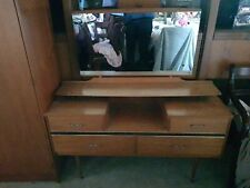 Vintage Dressing Table with Mirror and 4 Drawers