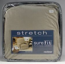 Sure Fit Stretch Suede Recliner Slipcover Taupe polyester spandex form fit