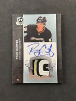 2007-08 UPPER DECK THE CUP STEVE CARTER ROOKIE AUTO PATCH SILVER #ed 137/249