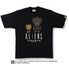 BAPE x ALIENS MILO & ALIEN QUEEN TEE MENS A BATHING APE BLACK NEW SZ SMALL S