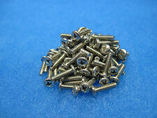 "(100) Phillips Pan Head Machine Screws: 4-40 x 7/16"" Nickel Plated Brass"