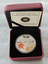 2013 CANADA 9999 FINE SILVER $20 DOLLARS COLOR CANADIAN MAPLE CANOPY AUTUMN