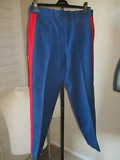 heavy WOOL MILITARY mens MARCHING BAND PANTS FUNKY MOD RETRO VINTAGE