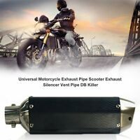 Universal Exhaust Pipe Scooter Exhaust Silencer Vent Pipe For Motorcycle YG