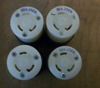 LOT OF 4 Hubbell 30A 250V Male Twist-Lock Plugs