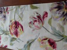 """Laura Ashley Gosford  Cranberry Table Runner  Fully Lined. New! 72"""""""