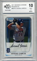 2011 Bowman Chrome Prospects Avisail Garcia Rookie BGS BCCG 10  White Sox