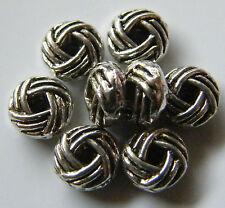 100pcs 3x6mm Metal Alloy Quoit Rondelle Spacer Beads - Antique Silver