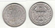 A SAISIR 500 MARK 1923  brillant frappe monnaie alu