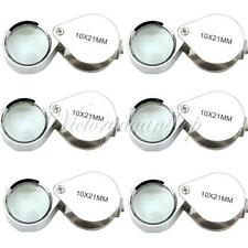 Wholesale Lot 6 pcs Magnifier 10x 21mm Jeweler Loupe Eye Glass Loop Magnifying