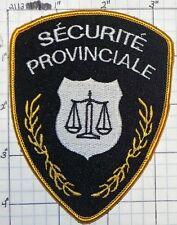 CANADA, SECURITE PROVINCIALE PATCH
