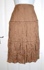BNWT Designer B.Young Brown Silk Skirt Size 10 No P&P