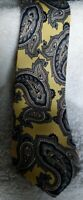 "The Place boys Clip On Tie Gold and blue Paisley 14 1/2"" long polyester"