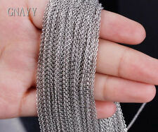 GNAYY 6 meter stainless steel Thin 2.4mm Oval chain Jewelry Finding Chain Silver