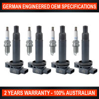 4x Genuine NGK Spark Plugs & Ignition Coils for Toyota Prius Prius-C 1.8L Hybrid