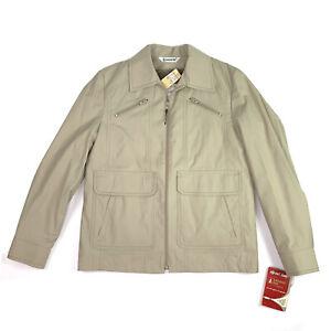 New Vintage London Fog Mens Joshua Beige Zip Out Liner Jacket Coat Size 38 Reg