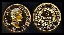 ★★ JOLIE COPIE PL. OR DE LA RARE 2 FRANCS AN 12 A PARIS CONSUL ★★ NEUVE FDC