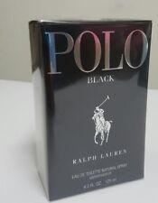 New Polo Black by Ralph Lauren 4.2 OZ EDT 125 ML Nib For Men  Authentic perfume