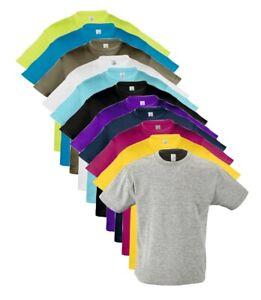 Childs Girls Boys Childrens Plain Cotton T Shirt T-Shirt Tee Shirt 2-12 Years