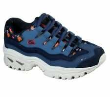 Sketchers D'Lites Ladies Leather Memory Foam Walking Trainers New Shoes Sizes 6