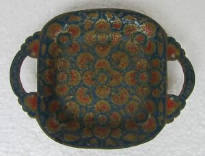 Vintage Old Collectible Serving Tray Handcrafted Meenakari Brass Serving Tray