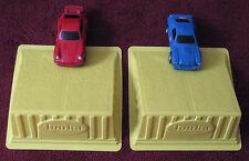 Porsche & Cobra Friction Racing Cars - Original 1970s Tonka - Plastic Ramp (TC)