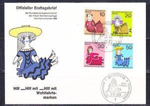 Germany West Berlin 1968 FDC cover Mi 322-325 Sc 9NB57-9NB60 Dolls