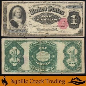 1891 $1 SILVER CERTIFICATE *MARTHA NOTE* LARGE SIZE BILL  Fr 223   42354