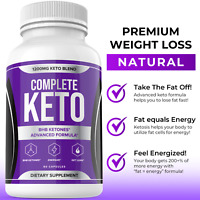 Complete Keto Diet Pills Advanced Weight Loss Fat Burner Supplement Keto XP BHB