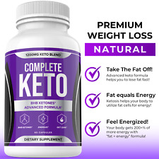 Complete Keto Diet Pills Advanced Weight Loss Fat Burner Supplement Keto XP BHB