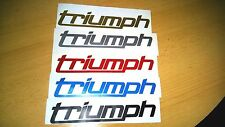 2/ Fairing / Tank Decal Stickers for Triumph (New logo Design) (Any Colour)